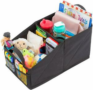 Premium Front & Backseat Car Organizer   Heavy Duty Back Stitching - 9 Clutter