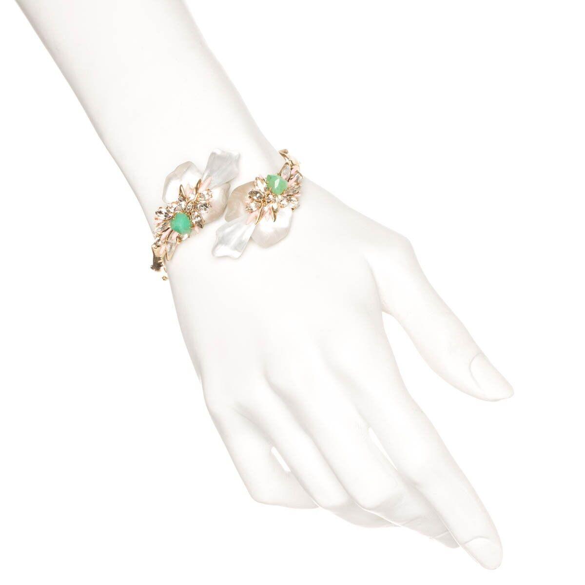 Alexis Bittar Desert Jasmine Corsage Bypass Bracelet.NEW
