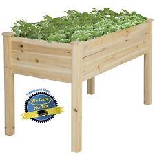Garden Raised Bed Planter Cedar Flower Elevated Gardening Plant Herb Box  Wooden