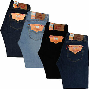 ab679b85dd7 La imagen se está cargando Nuevo-pantalon-vaquero-recto-Levis-501 -Hombre-Fit-