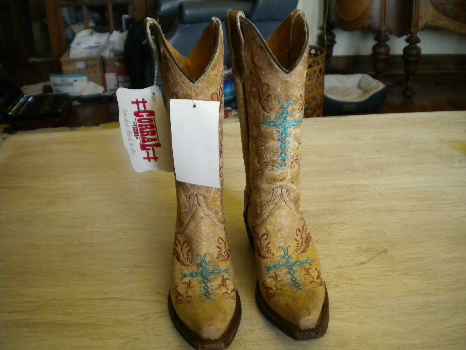 New With Tags Corral Multi color Hand Crafted Boots 2 T
