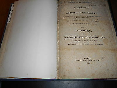 Antique 1832  Political  Summary of Proceedings  Convention Republican Delegates