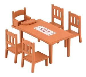 Image Is Loading Sylvanian Families Family Furniture Dining Table Set