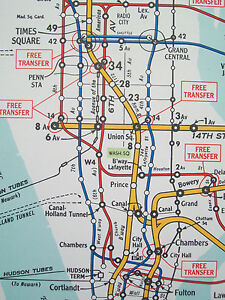 Bmt Subway Map.Details About 1948 Nyc New York Subway Elevated Map Hagstrom Bmt Brooklyn Ebbets Field Nice