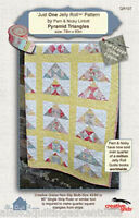 Quilt Pattern Pyramid Triangles Just One Jelly Roll Pattern - The Quilt Room