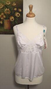 Vintage Shadowline White Camisole, Vintage Deadstock Lingerie, Size:34