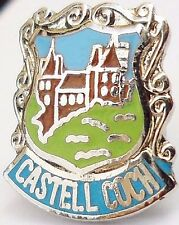 Castell Coch Cardiff Wales Crest Small Pin Badge (0294)