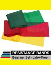 3 Theraband Resistance Bands Set Non-latex Band Physical Occupational Therapy