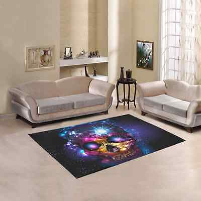 Skull Area Rug Cover Floor