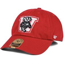 3a03237a0ed item 6 Wisconsin Badgers NCAA  47 Brand S Franchise Vault Relaxed Fitted  Cap Hat -Wisconsin Badgers NCAA  47 Brand S Franchise Vault Relaxed Fitted  Cap Hat