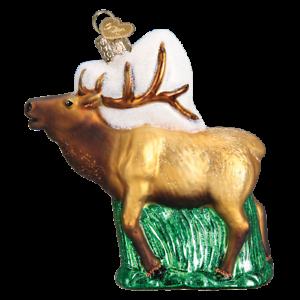 Old-World-Christmas-ELK-12502-N-Glass-Ornament-w-OWC-Box