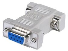 DB9 Serial Port Null Modem Adapter F/F 9 Pin Female/Female RS-232 Adaptor