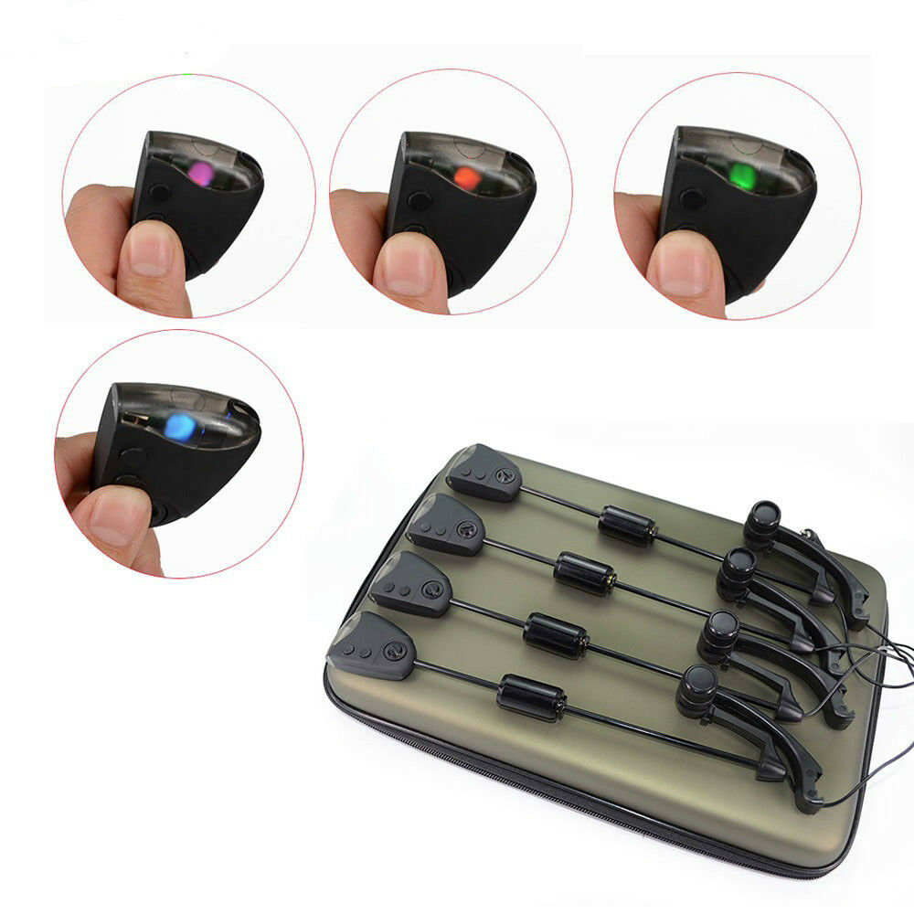 Carp Fishing Swingers with Changeable LED Light color Carp Bite Indicator
