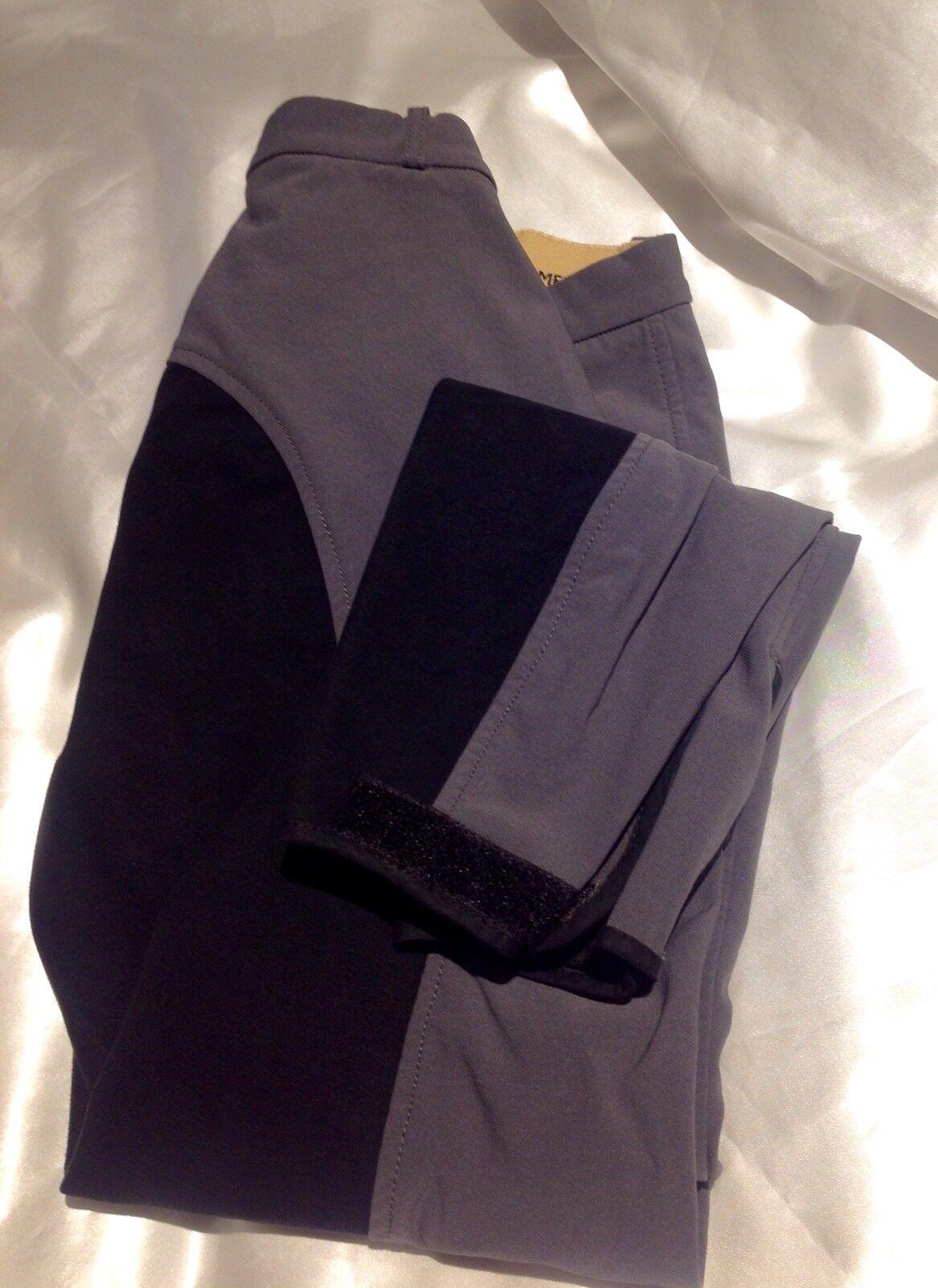 HKM Pantalones  De Montar Equitación Pantalones con Asiento Completo De Lycra & Teflón gris De Calidad Premium  mejor vendido