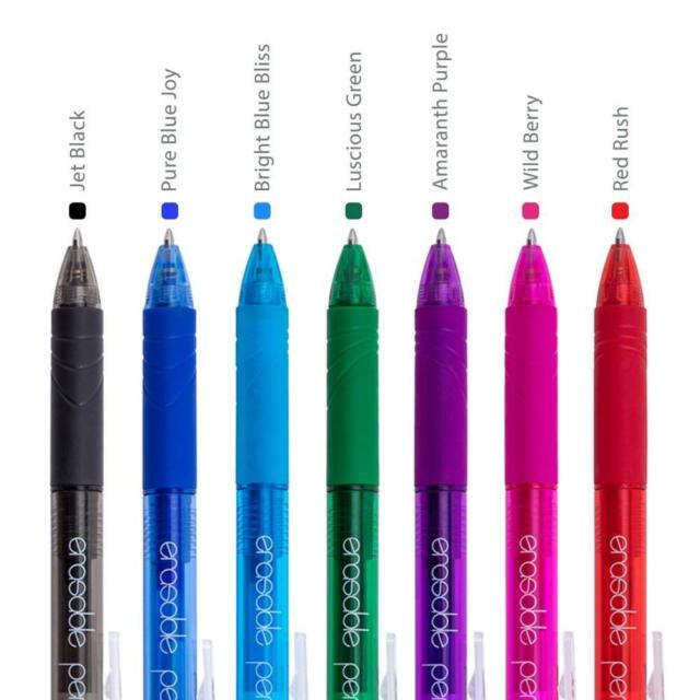 Parkoo Retractable Erasable GEL Pens Clicker Fine Point Assorted Color Inks 7 for sale online