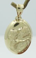 Very Nice 14K Yellow Gold Puffy Detailed Mother Child Pendant B2139