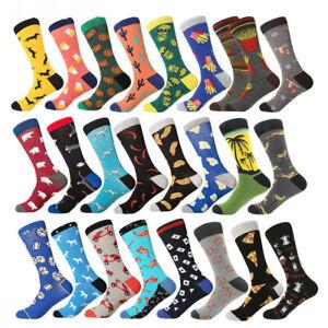 045fbb626fcd men's socks business dress long socks cotton funny chips car pizza ...