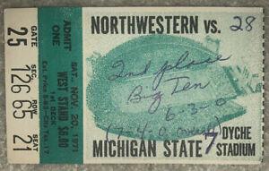 1971 Michigan State.vs. Northwestern College Football ...