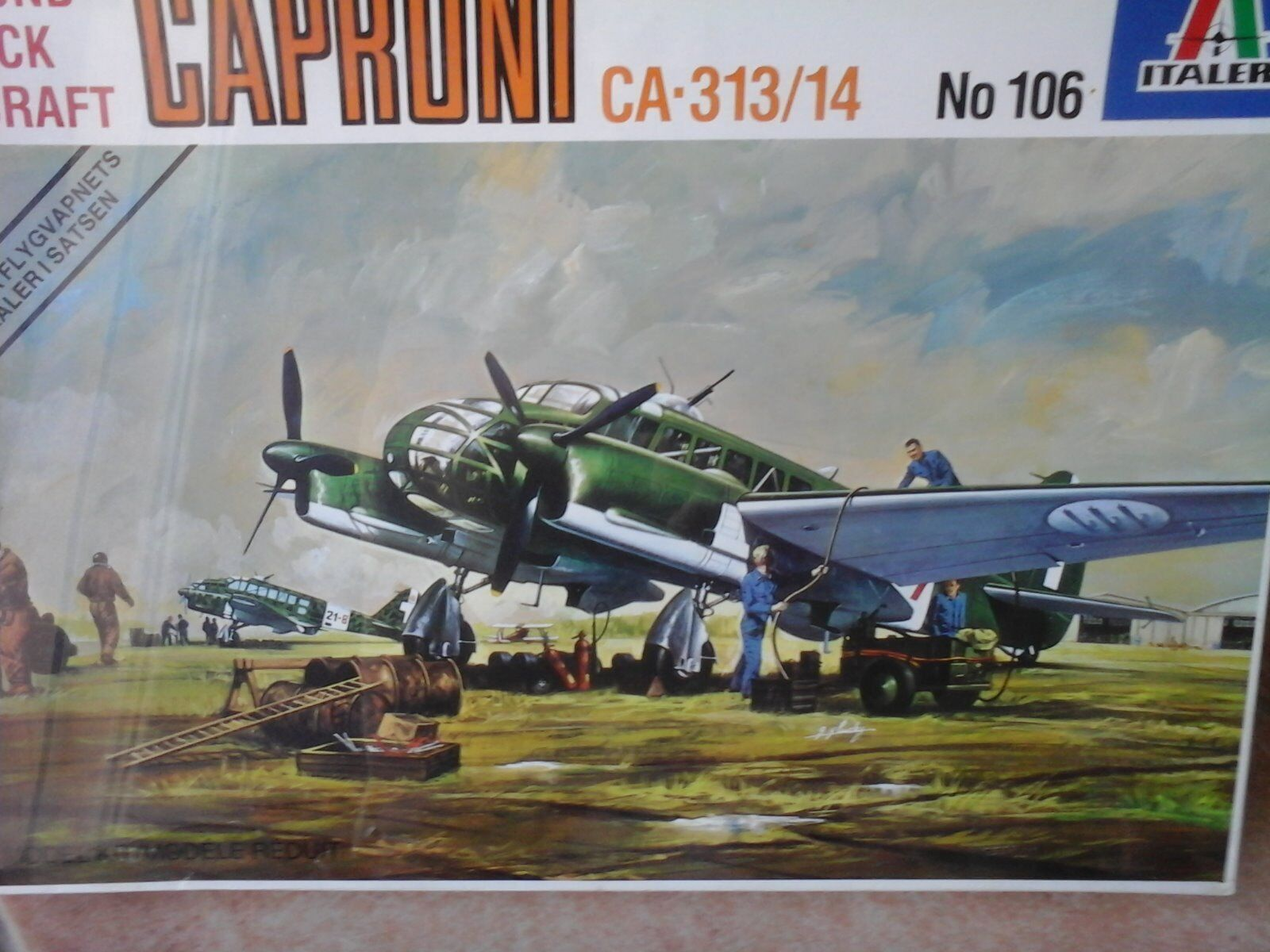 CAPRONI  CA313  KIT 1 72 SCALE, ITALERI MODEL