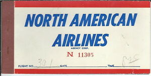AB-015-North-American-Airlines-1950-039-s-to-1960-039-s-Ticket-Book-Used-Vintage