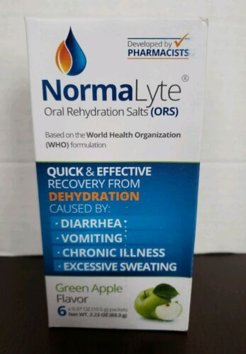 Normalyte Oral sels de Réhydratation NEUF Apple Rendements 500 ml per pack 6 PK