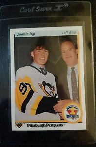 1990-UPPER-DECK-356-JAROMIR-JAGR-ROOKIE-CARD-RC-PITTSBURGH-PENGUINS-GEM-MINT