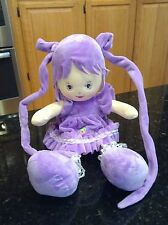 Chinda Purple Long Hair Dress Plush Baby Doll Stuffed Animal EUC