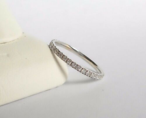 Micro Pave Diamond Eternity Band in 14 K White,Yellow or Pink gold Rose