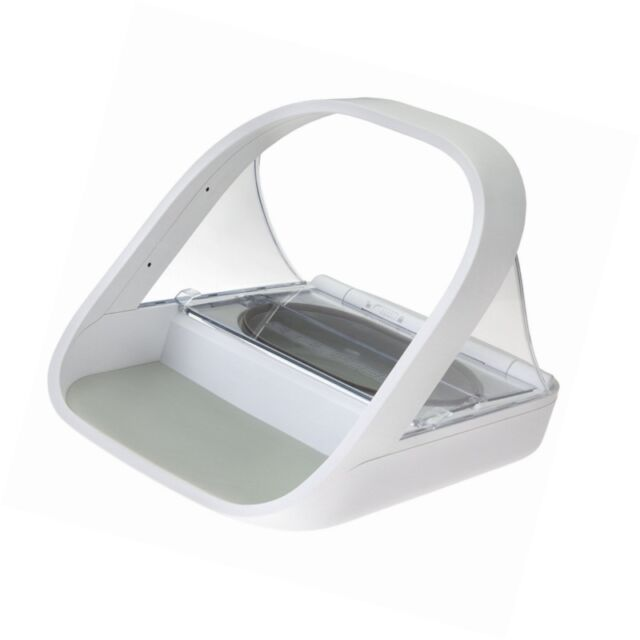 New SureFeed Microchip Pet Feeder Automatic Trixie Food Dispenser, White 450 ml