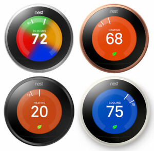 Nest Learning Smart Thermostat 3rd Generation Google Home Alexa NEW