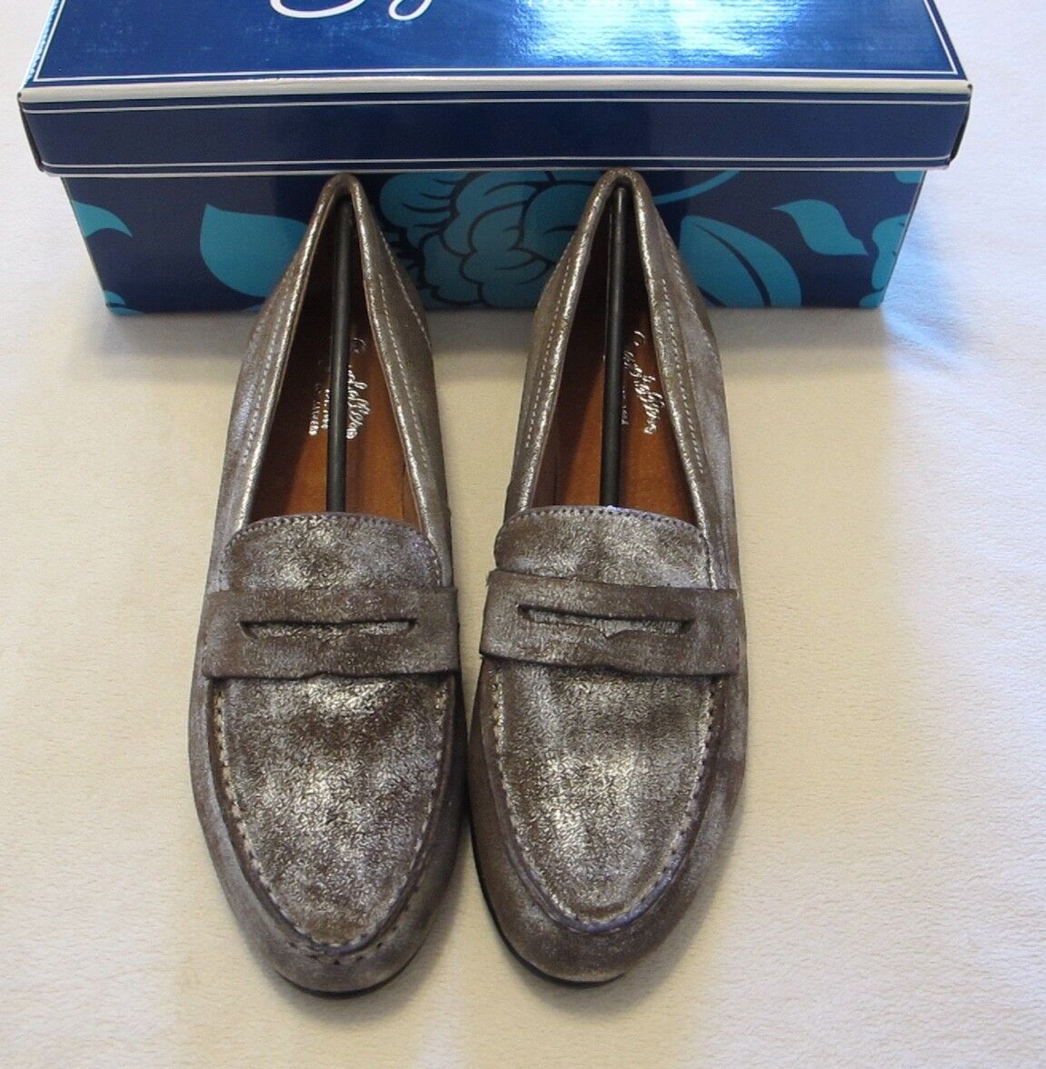 Seychelles Campaign Metallic Pewter Pewter Pewter Loafer size 8 f1519b