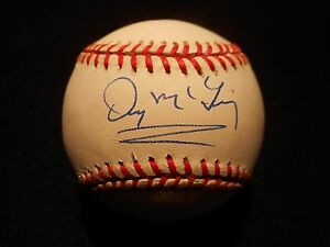 DENNY McLAIN AUTOGRAPHED ON OFFICIAL AMERICAN LEAGUE BASEBALL W/COA