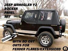 Jeep Wrangler YJ Diamond Plate Side Rocker Panel set no cut outs  6'' Tall