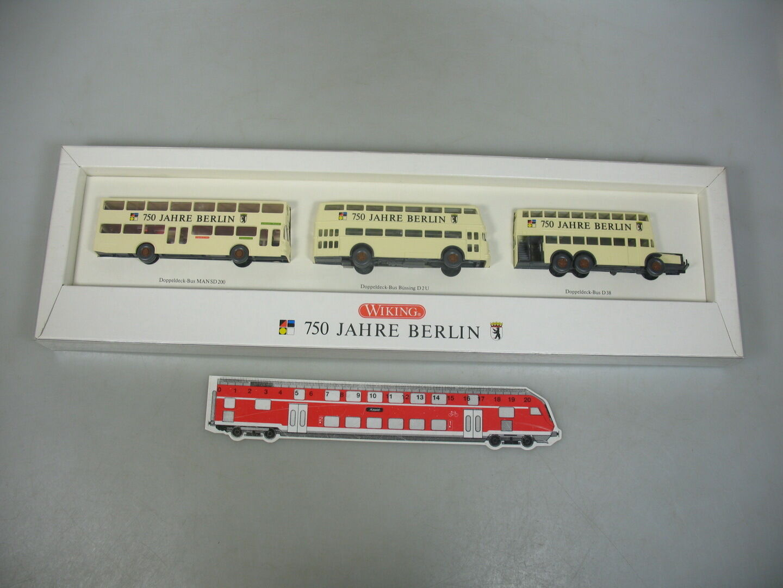AI56-1Wiking H0 Bus-Set 750 Years Berlin  Man Sg 200 + Büssing + D 38, Nip