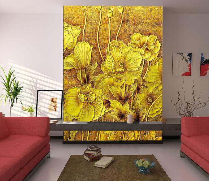 3D Flower carving 21453 Paper Wall Print Decal Wall Wall Murals AJ WALLPAPER GB