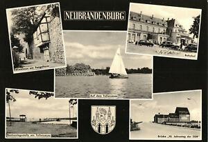 AK, Neubrandenburg, fünf Abb., gestaltet, 1965