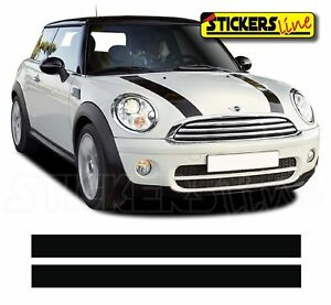 Adhesivos-Mini-Cooper-Bandas-Capo-Tiras-Mini-Bonnet-Stickers-Capo-One-S-D-SD