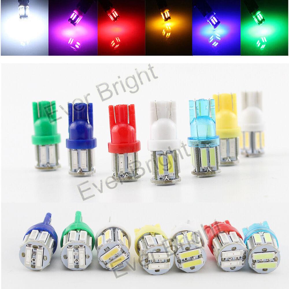 500Pcs 12V blancoo T10 W5W 7014 10SMD 194 168 Auto Coche 7020 10SMD LED Bombillas De Luz
