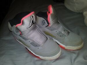 competitive price 48d46 b1a2a Details about AIR JORDAN RETRO 5 GG 440892 018 WOLF GREY HOT LAVA BLACK  RARE SIZE 3.5Y