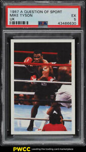 1987 A Question Of Sport Uk Boxing Mike Tyson Rookie Rc Psa 5 Ex Pwcc Ebay