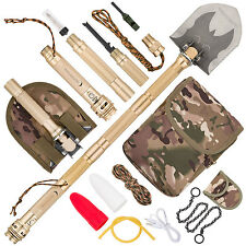 Folding Military Shovel Steel Multi tool Army Zombie Survival Gear tactical Kit