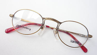 Rispettoso Montatura Occhiali Montatura In Metallo Ovale Oro Antico Stile Classica Kansai Taglia M-mostra Il Titolo Originale Con Metodi Tradizionali