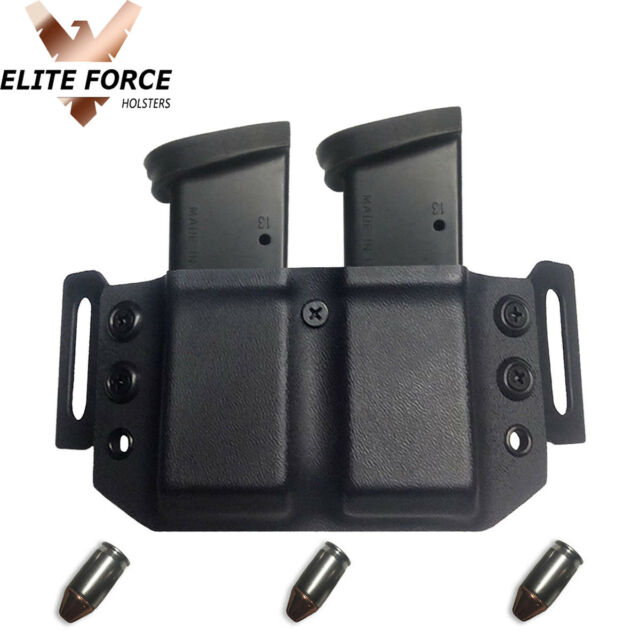 Dual Mag Carrier For EAA Sarsilmaz SAR Arms K2-45 45ACP OWB Kydex  ~AMBIDEXTROUS~