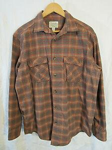 Cabela-039-s-Men-039-s-Plaid-Long-Sleeve-Button-Up-Shirt-Size-L-near-mint