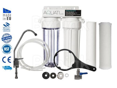 2 étape sous-évier céramique Eau Potable Système De Filtre Robinet Kit accessoires