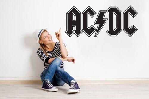 Large AC DC Band Logo Wall Art Kitchen Bedroom Living room Vinyl Decal Sticker