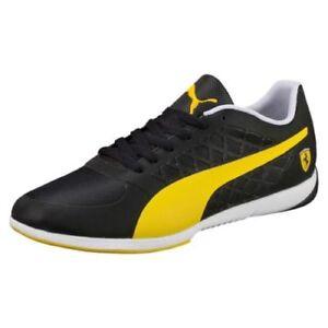 puma ferrari shoes black and yellow