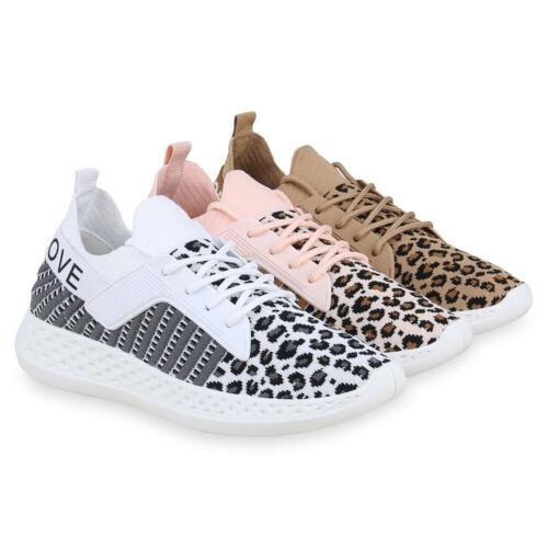 Damen Sportschuhe Strick Laufschuhe Logo Print Turnschuhe Sneaker 826338 Schuhe