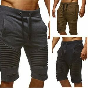 5d931107a09e Summer Men 3 4 Knee Casual Jogger Sport Shorts Baggy Gym Harem Pants ...