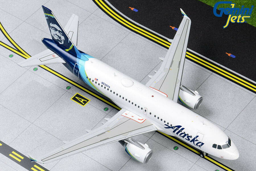 GEMINI JETS ALASKA AIRLINES AIRBUS A319 1 200 200 DIE-CAST G2ASA830 IN STOCK